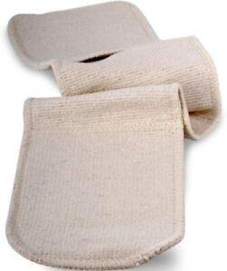 100% Cotton PLAIN DOUBLE OVEN GLOVE NEW 17x68cm
