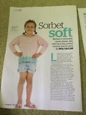 Girl's Summer Lace Sweater Knitting Pattern - 2 - 11 Years
