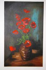 Eric PEYROL-Lithographie originale signée-Vase