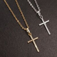 Women's Cross Pendant Link Jewelry 18K Gold Filled Fashion Necklace