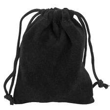 50x Velvet Jewellery Drawstring Wedding Gift Bag Favour Pouches Christmas 7x9cm Black