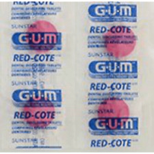 GUM Red-cote Dental Disclosing Tablets - Cherry Flavor (40 tablets)