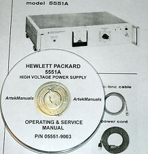 Hewlett Packard Operate & Service Manual for the 5551A High Voltage Power Supply