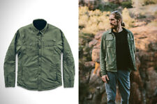 Taylor Stitch Albion Shirt Jacket Army Snap fleece lined 40 green black outdoor