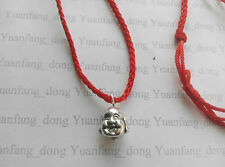 Red Cord Tibetan Silver Chinese small Lucky Buddha Budda Charm Pendant Necklace