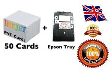 Inkjet PVC ID Card Starter Kit - Epson P50, T50, - 50 IJ PVC Cards & Card Tray