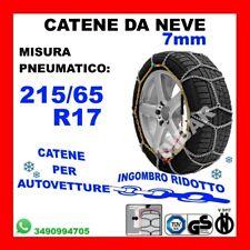 CATENE DA NEVE OMOLOGATE SMC 9mm 215 55 R 18 Ö-Norm 5117 TÜV GR120 CON VALIGETTA