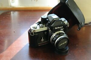 USED Nikon F2s (with DP-2 Finder) With case and lens. Clean & ready to shoot.