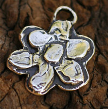 Sterling Silver Artisan Layered Flower Pendant  140As