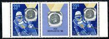 2045a - Yugoslavia 1984 -Jure Franko - Olympic Champion - Skiing -MNH Middle Row