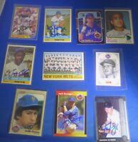 New York Mets signed autograph 10 card LOT Orosco Frazier MacKenzie  Millan