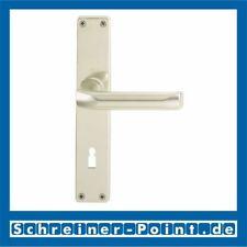 Hoppe London Aluminium F2 Neusilber Langschild 113/202SP OB Ovalbart BB Buntbart