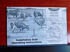 Parmak Precision Electric Fencers - Installation Operating Instructions 1996