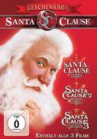 *3DVDs *GESCHENK-BOX --- SANTA CLAUSE 1, 2, 3 --- Tim Allen - NEU*OVP