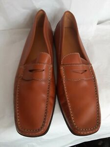 Tods  Leather casual Moccasins Mens Shoes Size UK 11 US 11.5 Handmade in Italy