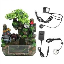 Desktop Simulation Resin Rockery Water Fountain Bonsai With Atomizer Home Decora