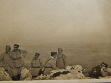 Vintage Photograph, French Mountain Troops On Break Smoking Pipes,Officers,1920s