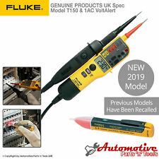 Genuine Fluke T150 & 1AC Voltage & Continuity Electrical LCD Two Pole Tester