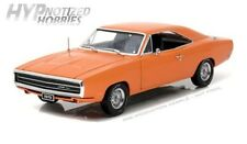 GREENLIGHT 1:18  1970 DODGE CHARGER 500 HEMI DIE-CAST ORANGE 19028
