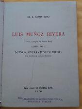 Luis Munoz Rivera, Savia y sangre de Puerto Rico. Cuarta parte - Arana Soto