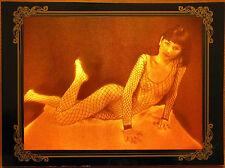 Rare true 3d film hologram Girl in fishnet (erotic)