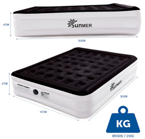 SUNMER King Size Air Bed Built In Pump Grade A Refurbished