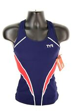 TYR Tri Comp Tank Top Women Size L Cycling Multicolor Polyester Nylon NEW W/TAGS