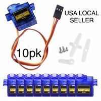 10pc Tower Pro SG90 Micro Servo Motor For RC Robot Helicopter plane Car Boat