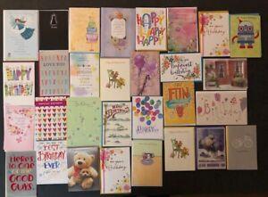 Birthday Cards - Varied Lot (30) - Amerian Greetings Hallmark - New