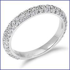 Gregorio: Beautiful Designer 1.1ct Diamond Wedding Band G VS 18K White Gold