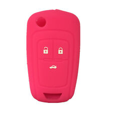 Hot Pink Silicone Flip Key FOB keyless cover key case fit for Chevrolet Cruze 3B