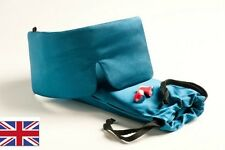 Sleep Master Deluxe Sleep Mask inc Earplugs storage pocket & Carry Pouch