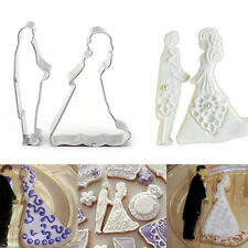 Lovers Wedding Stainless Steel Cookie Cutter Biscuit Cake Decorating Mould Tools