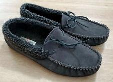 Minnetonka Mens Shoes Size 13 Allen Slipper Gray