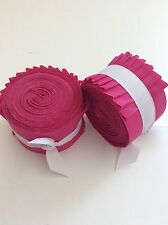 2.5 inch Bright Pink Solid Jelly Roll 100% cotton fabric quilting strips