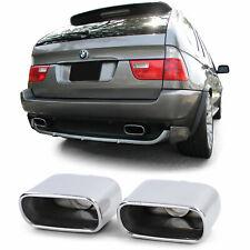 Auspuff Endrohr Blenden Sport Optik Edelstahl Paar für BMW X5 E53 99-06