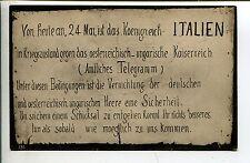 WW1 Propaganda Frankreich zur Kriegserklärung Italiens an Deutschland