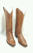 TEXAS BRAND WOMEN 6.5M WESTERN RODEO COWGIRL RIDING BOOTS MADE IN USA