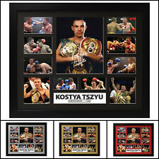 KOSTYA TSZYU Signed and Framed Memorabilia Limited Edition