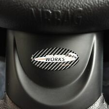 Mini JCW Carbon Fibre Steering Wheel Badge