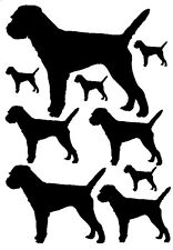 Border terrier stickers decals for car, van, window