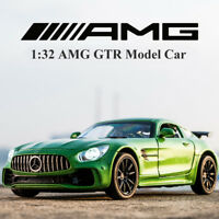 Benz AMG GTR 1:32 Metal Diecast Model Car Toy Collection Sound&Light Pullback