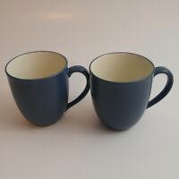 Set of 2 Noritake Stoneware Colorwave Blue Mugs Cups #8484