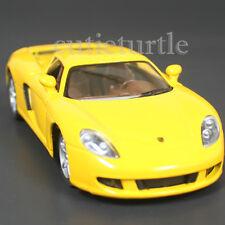 Kinsmart Porsche Carrera Gt 1:36 Diecast Toy Car Yellow