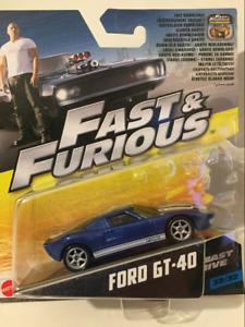Fast & Furious Rapide Cinq Ford GT-40 1:55 Echelle Mattel FCN88 2017