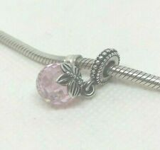 Authentic PANDORA Sterling Silver Pink CZ Charm MORNING BUTTERFLY  #791258PCZ