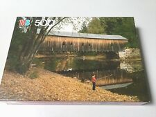 VINTAGE HEMLOCK BRIDGE, ME. MB CROXLEY 500 PIECE JIGSAW PUZZLE ***NEW, SEALED***