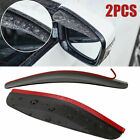 2 Pcs Car Rear View Side Mirror Rain Board Black PVC Mirror Rain Visor Guard New