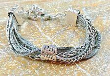 """Silpada .925 Sterling Silver """"Talk of the Town"""" Bracelet B1702 RETIRED MINT"""
