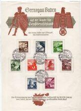German Used Sheet German & Colonies Stamps